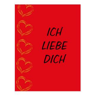 Ich Liebe Dich - Postkarte