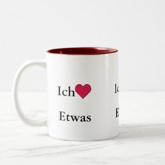 Ich Liebe (Etwas) Zweifarbige Tasse