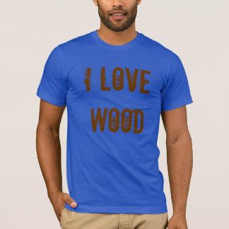 """""""Ich Liebe-hölzernes"""" Tischler-Werkzeug T-Shirt"""