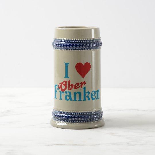 Ich liebe I love Oberfranken Bierglas