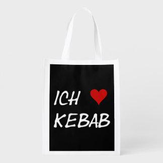 Ich Liebe Kebab Wiederverwendbare Tragetaschen