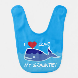 """""""Ich Liebe mein Grauntie!"""" Blauwal mit Herzen Lätzchen"""