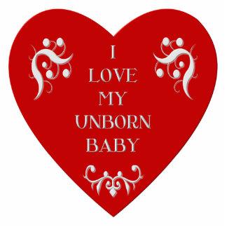 """""""Ich Liebe mein ungeborenes Baby """" Freistehende Fotoskulptur"""