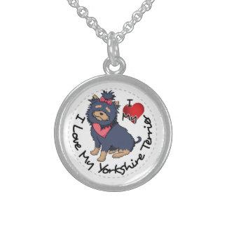Ich-Liebe-Mein-Yorkshire-Terrier Sterling Silberkette