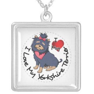 Ich-Liebe-Mein-Yorkshire-Terrier Versilberte Kette