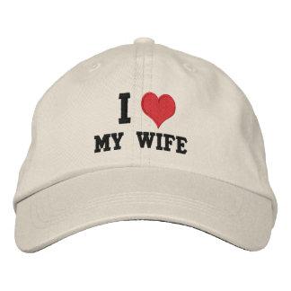 """""""Ich Liebe meine Ehefrau """" Bestickte Kappe"""