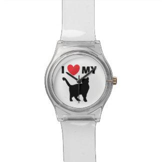 """""""Ich Liebe meine Katzen-"""" Uhr"""