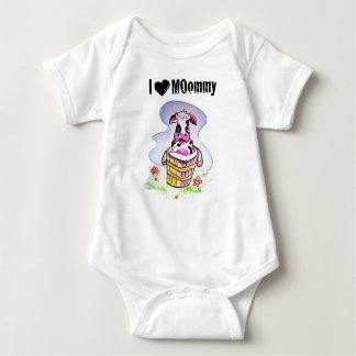 """""""Ich Liebe Moommy"""" Baby-einteilige Ausstattung Baby Strampler"""