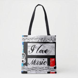 """""""Ich Liebe-Musik-"""" schöne künstlerische Tasche"""