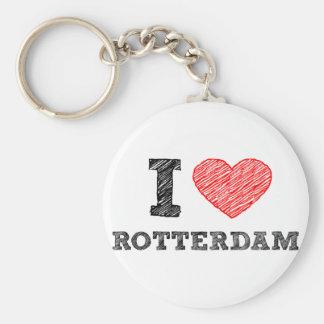 Ich-Liebe-Rotterdam Standard Runder Schlüsselanhänger