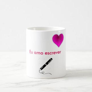 Ich liebe schreiben kaffeetasse