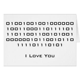 """""""Ich Liebe Sie"""" im binären Code Karte"""