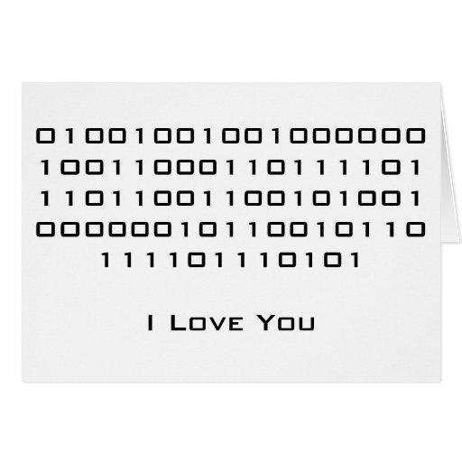 """""""Ich Liebe Sie"""" im binären Code Grußkarten"""