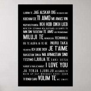 Schlüsselanhänger Metall = Ich liebe Dich = Weltsprachen Ti amo Je t´aime