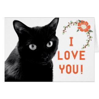 """""""Ich Liebe Sie"""" Katzen-Mitteilungskarten Karte"""