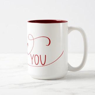 """""""Ich Liebe Sie"""" übergebe mit Buchstaben Zweifarbige Tasse"""