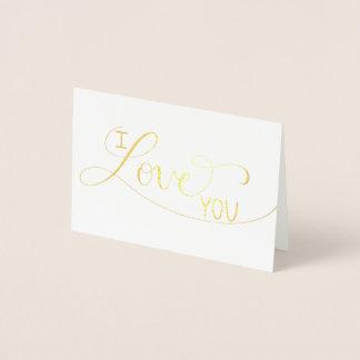 """""""Ich Liebe Sie"""" vereitelte Handmit buchstaben Folienkarte"""