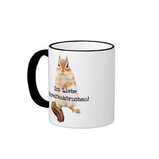 Ich Liebe Streifenhörnchen! Ringer Tasse