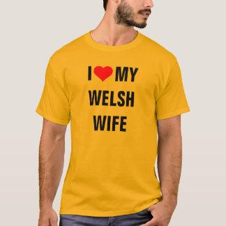 """""""Ich Liebe T - Shirt meiner Waliser-Ehefrau"""""""