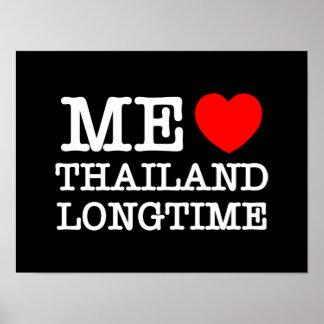 ICH LIEBE THAILAND LANGFRISTIG POSTER