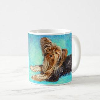 """""""Ich Liebe Yorkies"""" Hund - Kaffeetasse"""