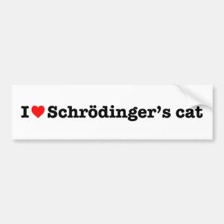 """""""ICH LIEBEschrodingers CAT """" Autoaufkleber"""
