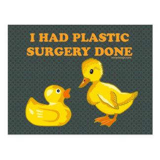 Ich ließ PlastikOperation erfolgen Postkarte