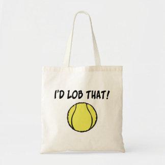 Ich Lob diesen Tennisball Tragetasche