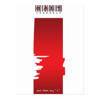 """ich"" Logo Postkarte"