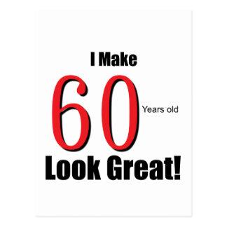 Ich mache 60 Jahre alte Blick-groß! Postkarte