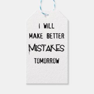 ich mache bessere Fehler morgen Geschenkanhänger