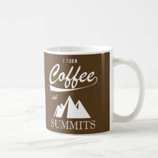 Ich mache Kaffee zu Gipfel Kaffeetasse