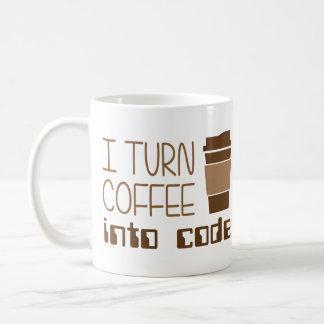 Ich mache Kaffee zu Programmierungscode Tasse