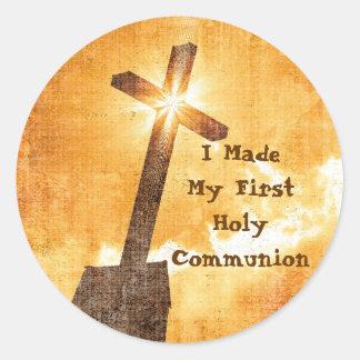 Ich machte meine ersten heilige Kommunions-Aufkleb Runde Aufkleber