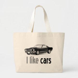 Ich mag Autos Einkaufstaschen