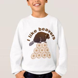 ich mag Biber Sweatshirt