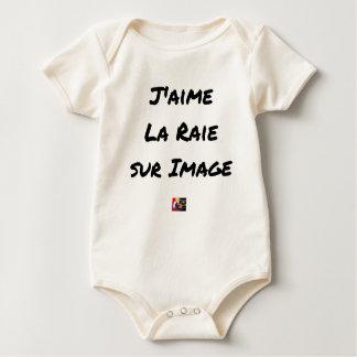 Ich mag den Rochen auf Bild - Wortspiele Baby Strampler