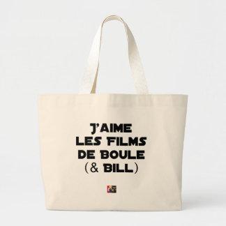 Ich mag die Kugelfilme (& Bill) - Wortspiele Jumbo Stoffbeutel