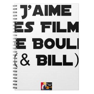 Ich mag die Kugelfilme (& Bill) - Wortspiele Notizblock