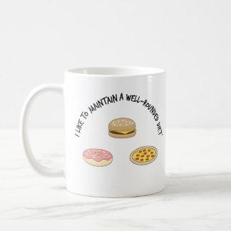 Ich mag eine vielseitige Diät beibehalten Kaffeetasse