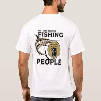Ich mag fischen und mag möglicherweise 3 Leute T-Shirt
