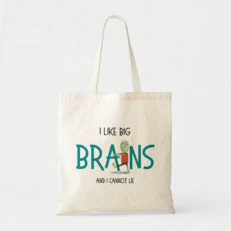 """""""Ich mag große Gehirn-"""" niedliche Zombie-Tasche Tragetasche"""