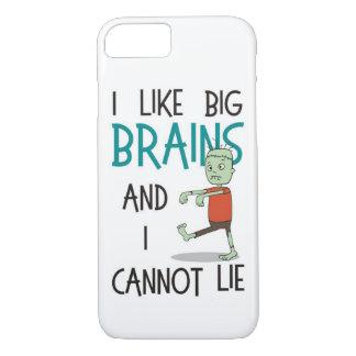 """""""Ich mag große Gehirn-"""" niedlicher iPhone 8/7 Hülle"""