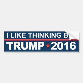Ich mag großen Trumpf 2016 denken Autoaufkleber