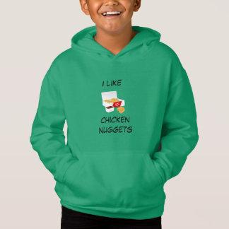 Ich mag Huhnnuggetpullover Hoodie