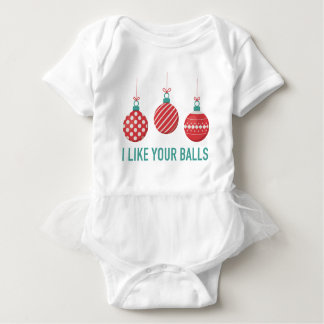 Ich mag Ihre Bälle Baby Strampler