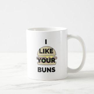 Ich mag Ihre Brötchen-Hamburger-Spaß-Illustration Kaffeetasse