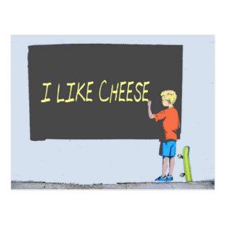 Ich mag Käse Postkarte