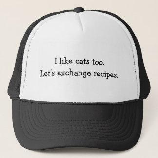 """""""Ich mag Katzen auch"""" Hut Truckerkappe"""