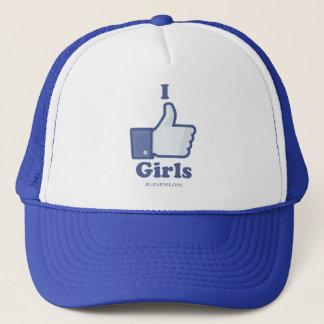 Ich mag Mädchen #LoveIsLove hashtag Hut Truckerkappe